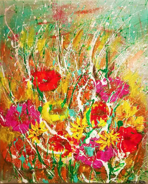 Flowers garden - MARIA MAGIC ART