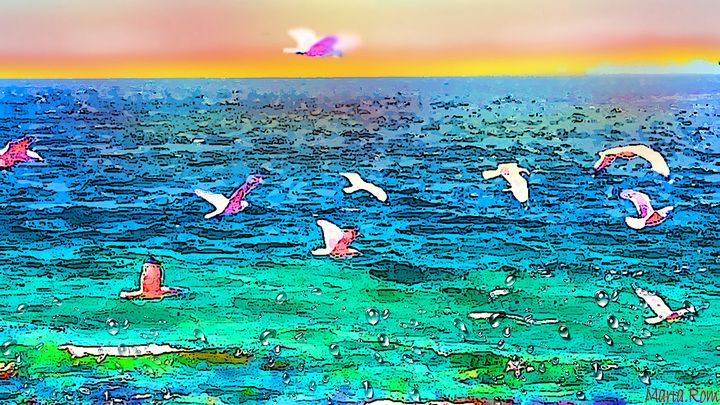 FLY BIRDS - MARIA MAGIC ART
