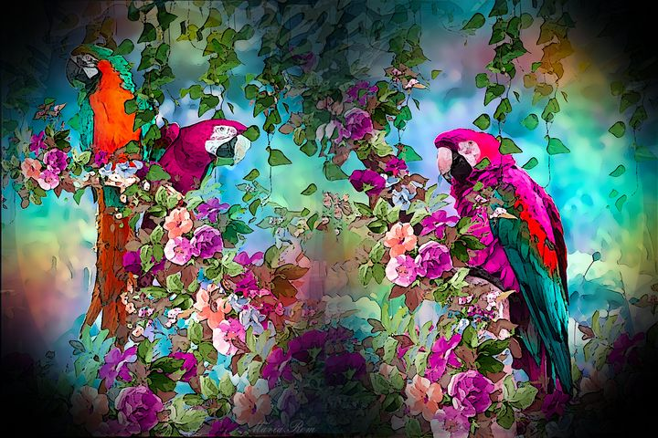 Parrot in the land - MARIA MAGIC ART