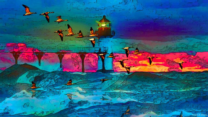 Night Seascape - MARIA MAGIC ART