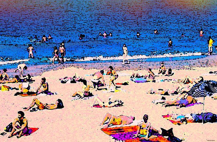 Barcelona beach - MARIA MAGIC ART