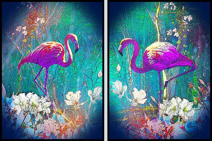 Flamingo pink - MARIA MAGIC ART
