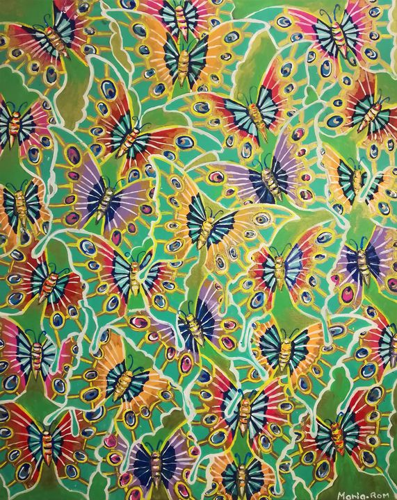 Butterfly (textile design) - MARIA MAGIC ART