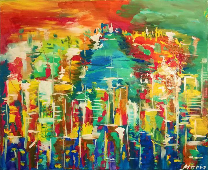 Cityscape - MARIA MAGIC ART