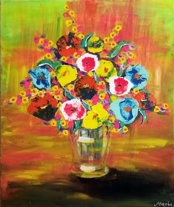 Pot flowers - MARIA MAGIC ART