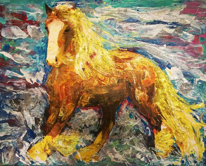 Horse under the sea - MARIA MAGIC ART