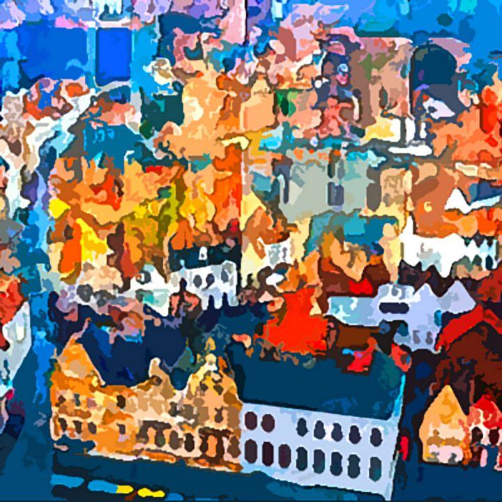 Bruges belgium places people - MARIA MAGIC ART