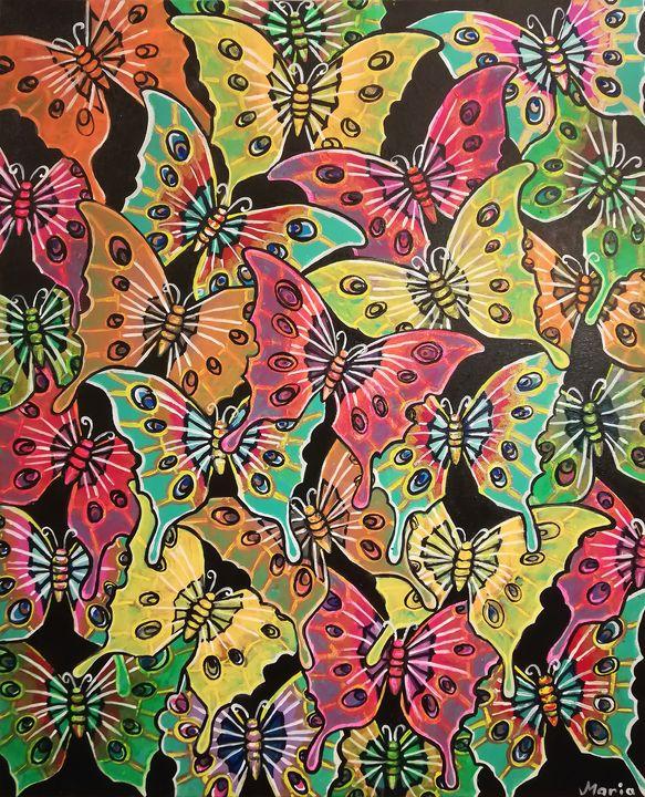 DESIGN BUTTERFLY - MARIA MAGIC ART