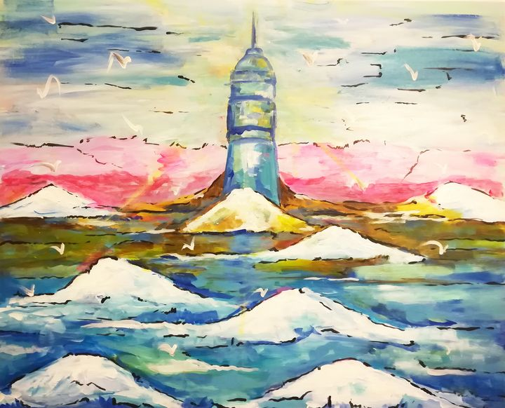 Snow lighthouse - MARIA MAGIC ART