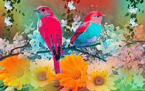 Birds on the garden
