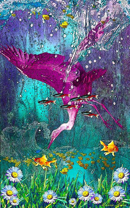 Bird underwater - MARIA MAGIC ART
