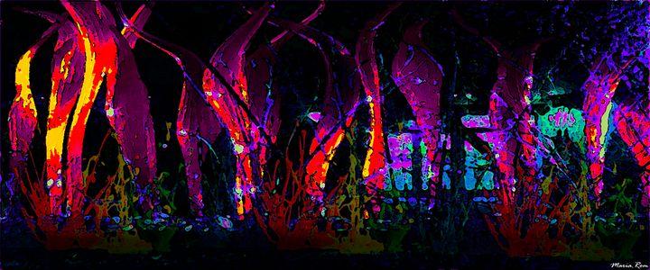 Botanical Garden Night - MARIA MAGIC ART