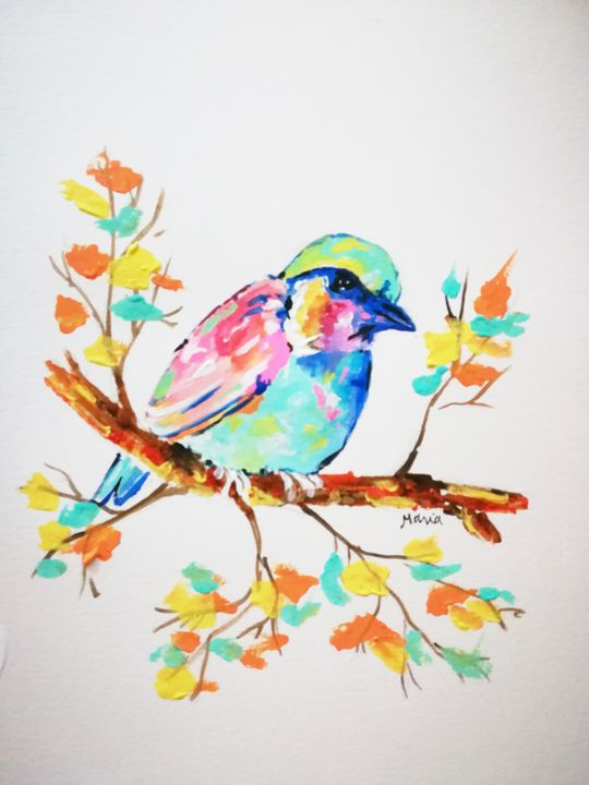 3 Cute birds - MARIA MAGIC ART
