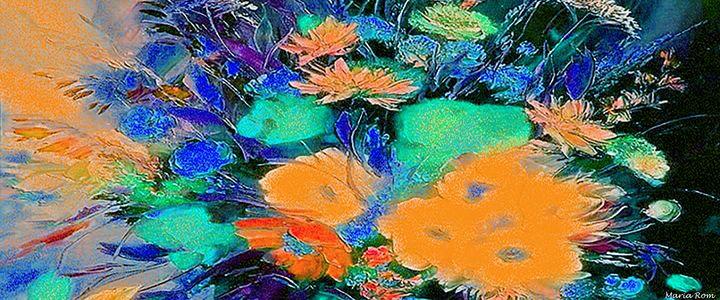Flowers in the dark - MARIA MAGIC ART