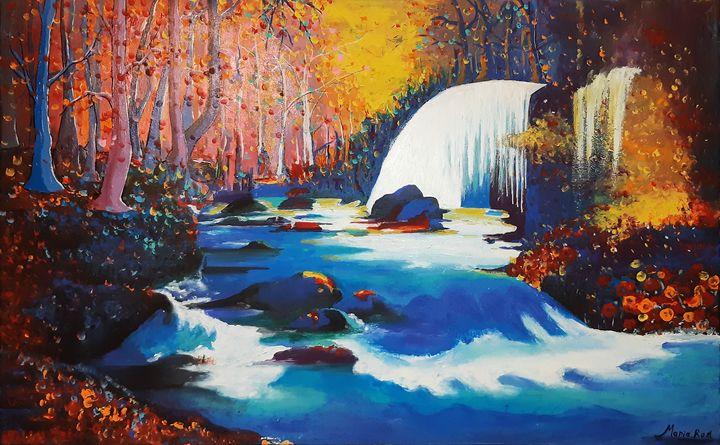 Night landscape - MARIA MAGIC ART