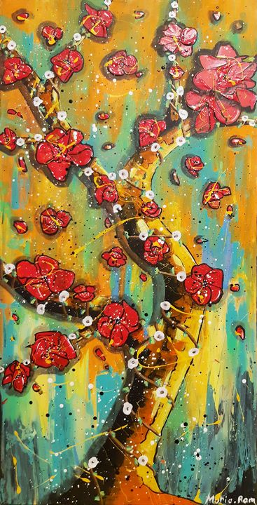SPRING ABSTRACT FLOWERS - MARIA MAGIC ART
