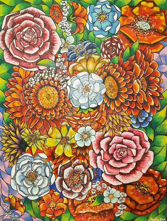 Spring garden flowers - MARIA MAGIC ART