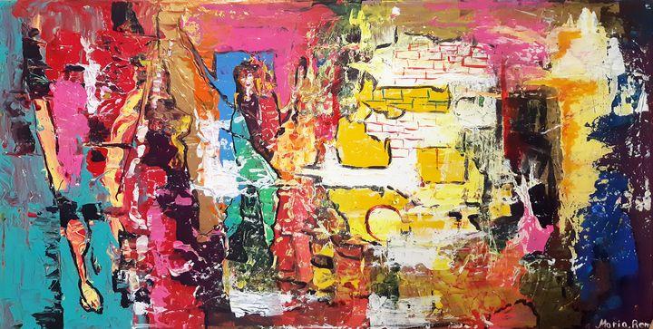 BAAZAR IN A VILLAGE OF NORTH AFRICA - MARIA MAGIC ART