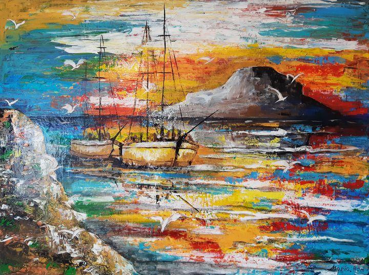 NIGHT SEASCAPE - MARIA MAGIC ART