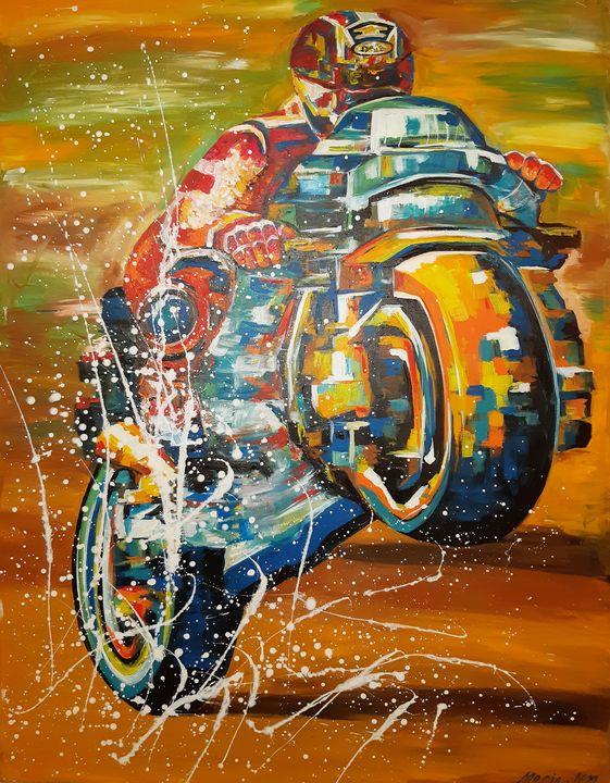 Motorcycle - MARIA MAGIC ART