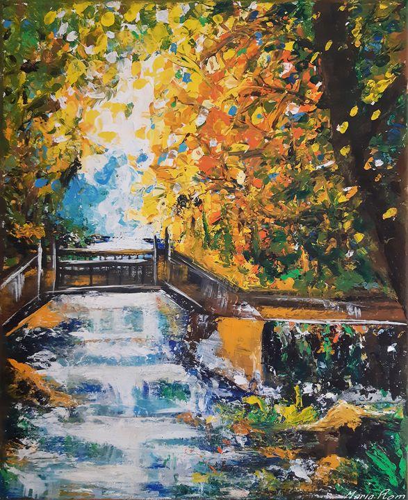 Bridge landscape - MARIA MAGIC ART