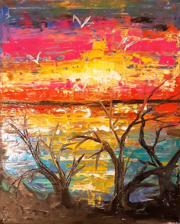 Sunset seascape - MARIA MAGIC ART