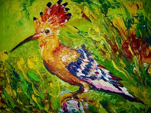 Motley Hoopoe - MARIA MAGIC ART