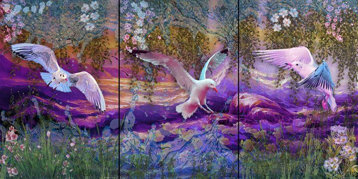 Fly up the seascape - MARIA MAGIC ART