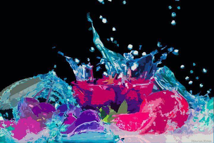 Splash fruit - MARIA MAGIC ART