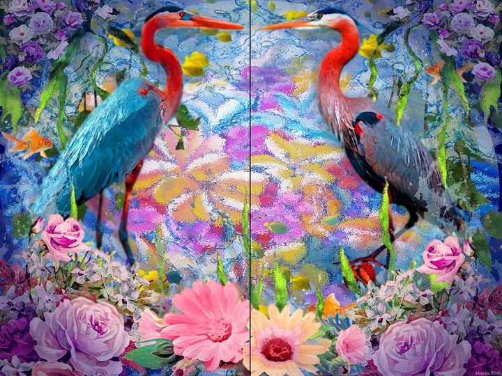 Aquatic birds - MARIA MAGIC ART
