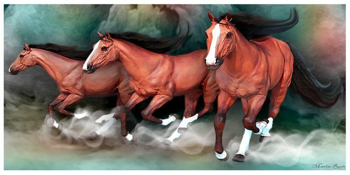 Run horses - MARIA MAGIC ART