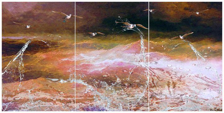 Seascape night - MARIA MAGIC ART