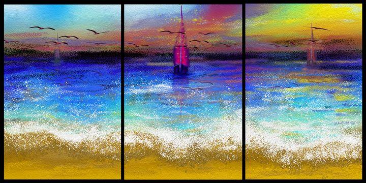 Seascape sunset - MARIA MAGIC ART