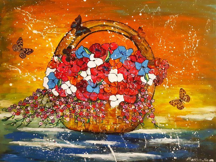 Basket flowers 2 - MARIA MAGIC ART