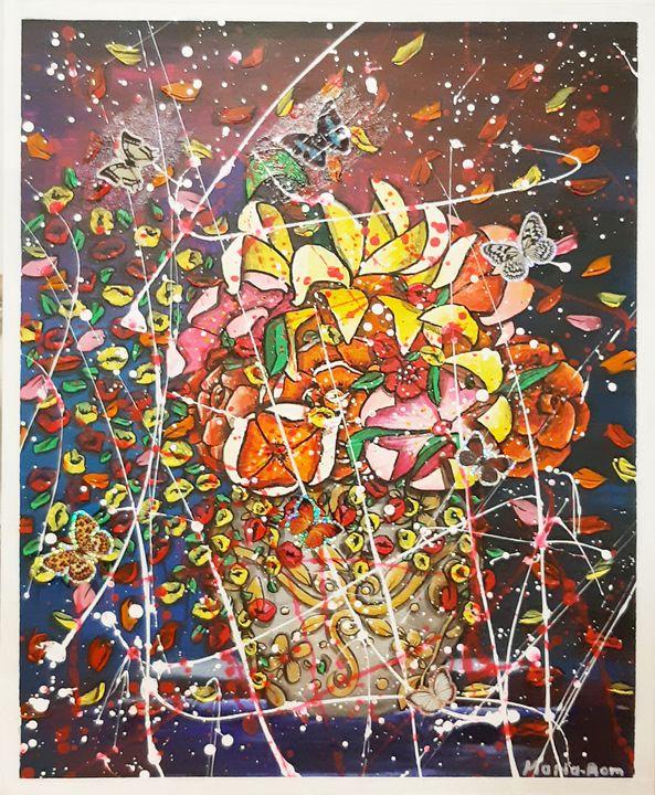 Vase flowers - MARIA MAGIC ART