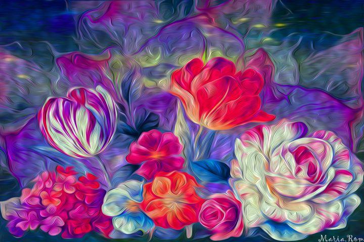 Flowers garden - MARIA MAGIC ART