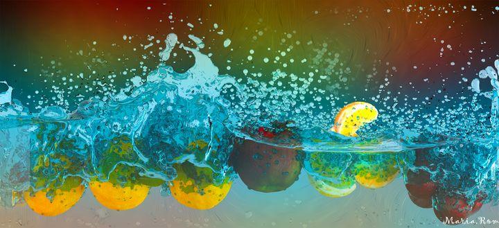 Splash fruits - MARIA MAGIC ART
