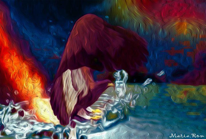 FLY EAGLE UP WATER - MARIA MAGIC ART