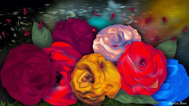 Flowers garden4 - MARIA MAGIC ART
