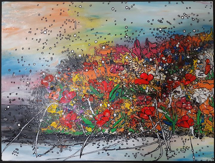 Garden abstract - MARIA MAGIC ART