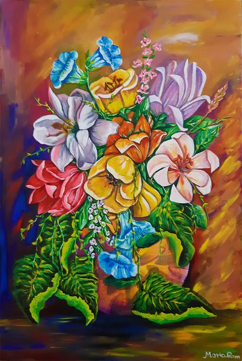 Vase Flowers - MARIA MAGIC ART