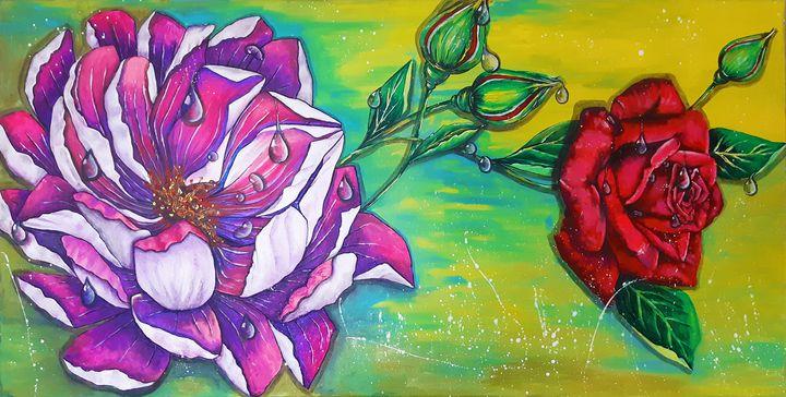 Moon Flowers - MARIA MAGIC ART