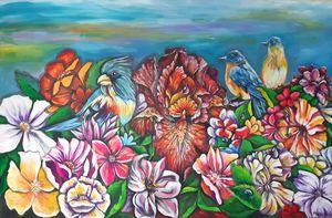 Birds in the garden