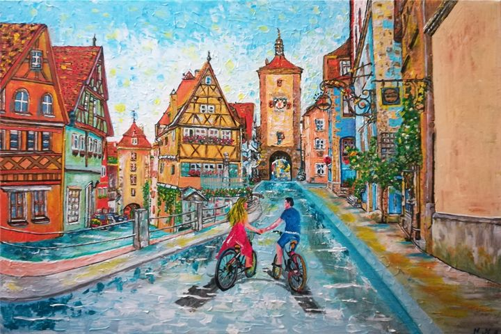 Rothenburg Italy - POWER MAGICAL PAINTING