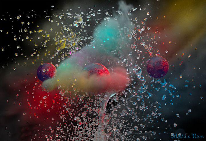 SMOKE WATER - MARIA MAGIC ART