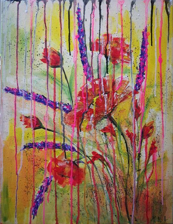 Flows flowers - MARIA MAGIC ART