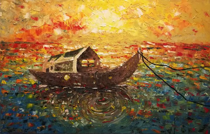 boat-sunset - MARIA MAGIC ART