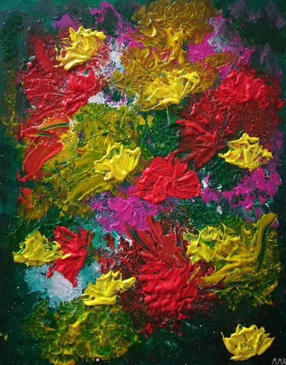 Abstract Flowers - MARIA MAGIC ART