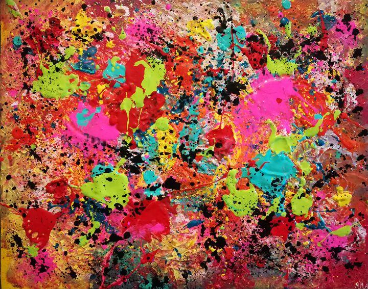 Colorful Paint Splatter - MARIA MAGIC ART