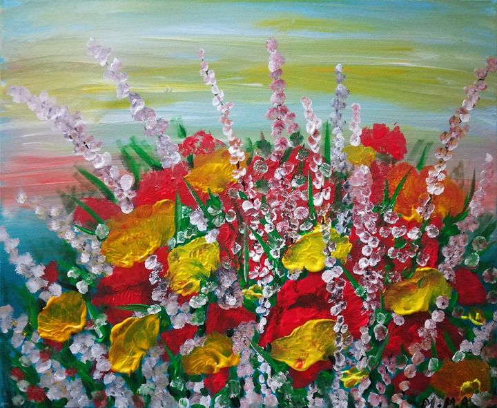 Colorful flowers - MARIA MAGIC ART